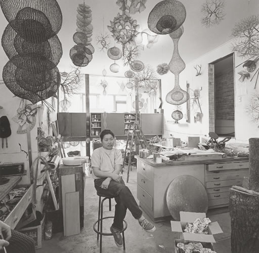 ringoringoringo :      Ruth Asawa  in Her Studio, San Francisco 1969  (by  Rondal Partridge )