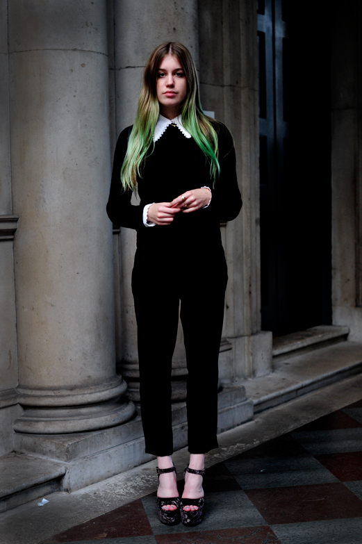 Got A Girl Crush On:  HER HAIR!   The 13-year-old inside me is totally jealous that her faded manic panic looks so good. Plus the grown-up Wednesday Adams look is a total win.   (via  ringoringoringo : Hanneli Mustaparta )