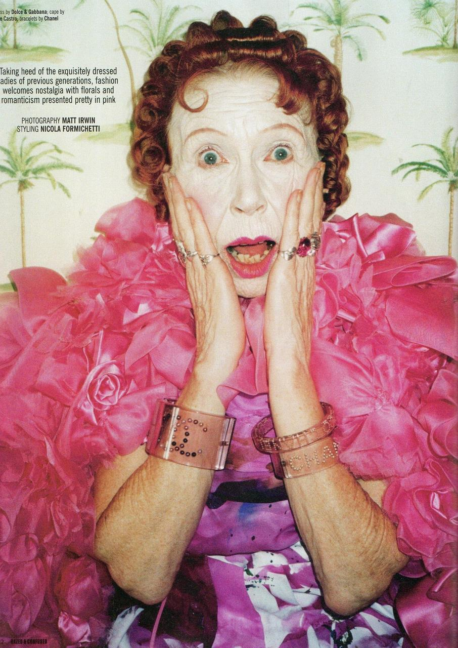 "Got A Girl Crush On:   The Ladies from Matt Irwin's ""Pretty In Pink"" shoot for Dazed & Confused    This is me in 50 years. Believe.   (via  babiamajora  &  hellovagina )"