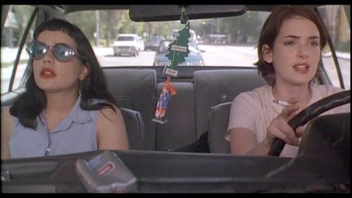 "Got A Girl Crush On:  Janeane Garofalo and Winona Ryder singing "" My Sharona "" in  Reality Bites    Oh 1994. Admittedly I was 11, but this movie was still the epitome of cool to me (only  slightly  pre: My So-Called Life). Besides, Garof rockin' those Betty bands and round sunglasses? Gaga only WISHES she came up with this!   (via  imbeccable )"
