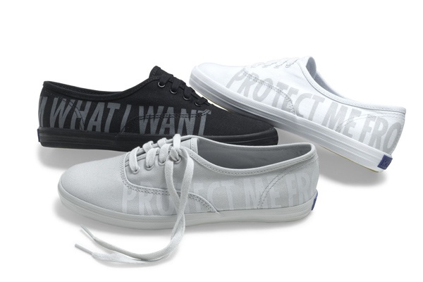 """Got a girl crush on: Jenny Holzer for KedsWhitney In the latest """"interesting collaborations"""" news, Keds has teamed up with the Whitney Museum of American Art and conceptual artist/wordsmith/master of brevity Jenny Holzer to release the KedsWhitney Collection. The shoes come in two styles, black and white, and all the proceeds go toward the museum. You can get them at bloomingdales.com and keds.com for $70-75 a pop. See also: At Home with Jenny Holzer (via Refinery29)"""