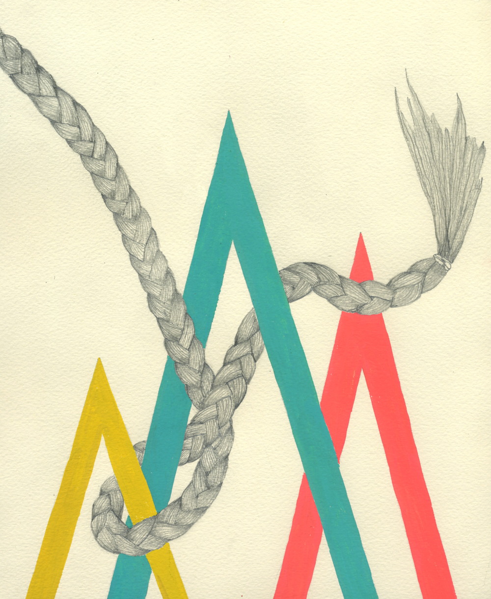 It's Complicated       Got a girl crush on: Lisa Congdon    I'm really enjoying the new work Lisa Congdon posted to her  flickr . Braids and geometric shapes? THE BEST!
