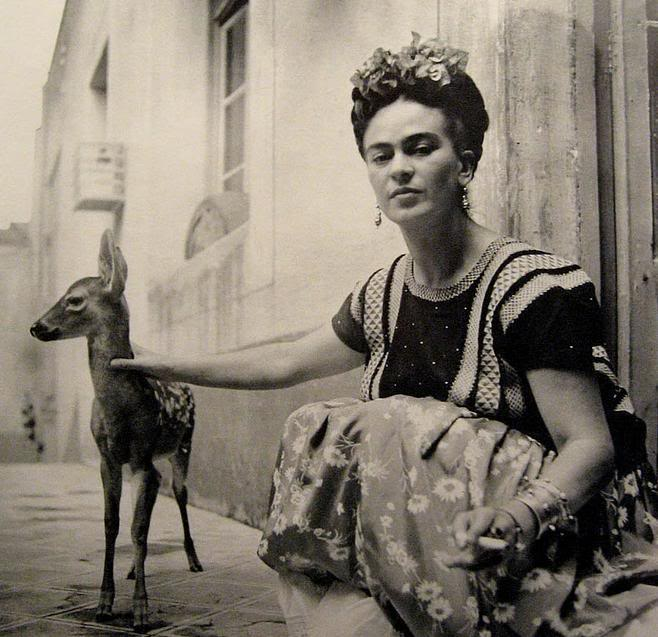 Got A Girl Crush On: Frida Kahlo ( reprise )    waysiveavoidedstudyingforfinals :     Another reason I adore this woman.     heymiki :     She could charm wild animals, while smoking a cigarette ;)