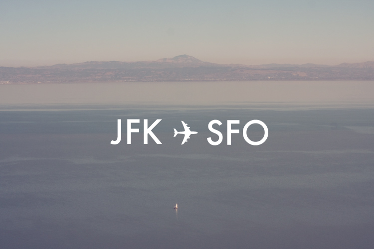 andreainspired :       Paul Octavious - JFK ✈ SFO     Going the other direction, but close enough. New York City, here I come! Posting this week will be minimal, if not non-existant.     GAGC unites this week! holler!