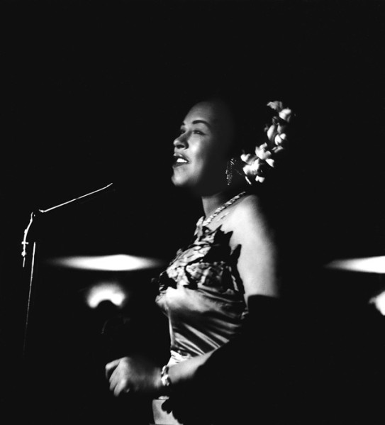 Got A Girl Crush On:  Billie Holiday, The Tiffany Club, Los Angeles - 1951   Although she  led a life as sad as most of her songs , Billie paved the way for women performers and personalized love songs the way only a truly broken-hearted woman could. Her vocals are still unmatched today.   (via  theniftyfifties )