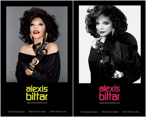 "Got A Girl Crush On : Joan Collins (the new face of  Alexis Bittar )   ""' When I think  Opulence , I think 'Joan Collins and Dynasty.'"" –Alexis Bittar     These posters are plastered all over midtown in NYC and I can't help but think ""Bitch has still got it"" every time I walk by…."