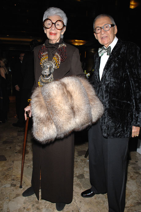 Got a girl crush on: Iris Apfel     Iris Apfel  takes the cake for most 'advanced' style on Got a Girl Crush–wouldja get a load of that tribal necklace?! And apparently her husband Carl is just as groovy!   (via sundaygirl )