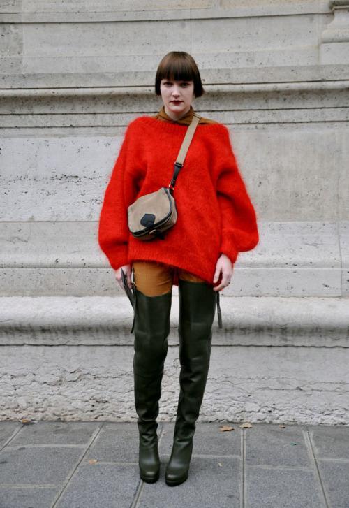 Got A Girl Crush On: Lotta, Paris Fashion Week (via goldgrass via IS MENTAL: Fire and blood)