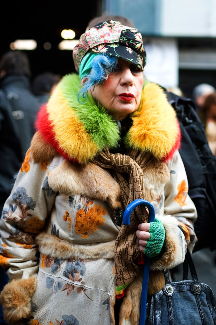 Got A Girl Crush On:  Anna Piaggi   Bag lady chic? Lady gaga in 50 years? Win!