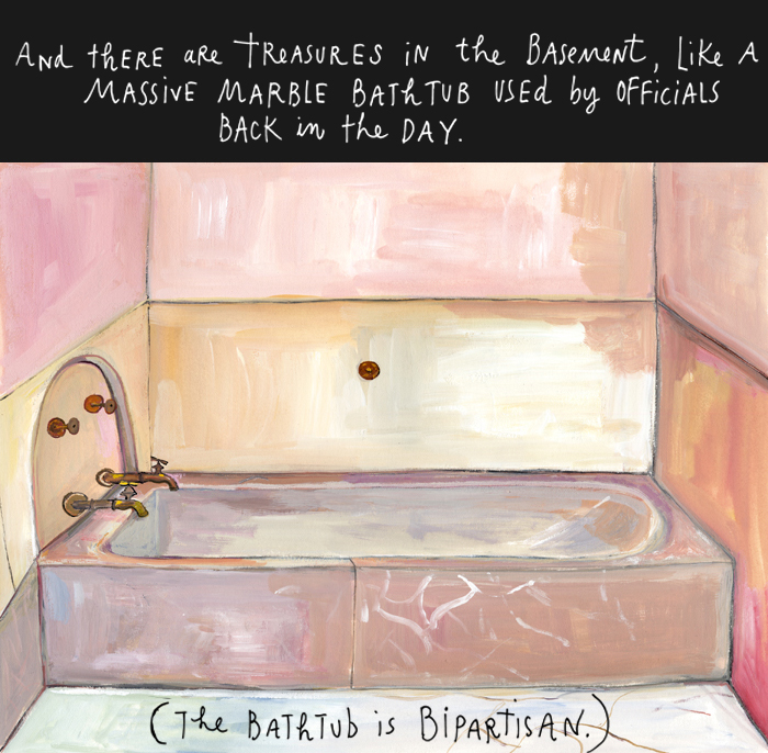 "Got a girl crush on: Maira Kalman    Armed with wits drier than ever, Maira Kalman gives us an in-depth tour of the Capitol building. In this installment of   And the Pursuit of Happiness   titled  ""E Pluribus Unum"" , she explores the beauty of a bicameral legislature.   (via  And the Pursuit of Happiness Blog - NYTimes.com )"