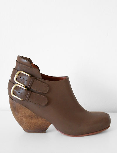 Got a crush on: Rachel Comey Barbaro Buckle Boot    I love you. But I can't have you.   I'm putting myself on a shopping ban. A friend once told me that you can justify buying a piece of clothing if you can get it down to $3/wear. Realistically, I'd say it's $5/wear. For example, this boot costs $334.00. Which means I'd have to wear it  668 * times to make it worth it. Ugh.   *Update: How embarassing. A reader informed me it's actually 66.8 times. Which I guess isn't so bad. BUT STILL.