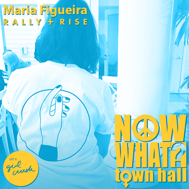 Maria Figueira // Finance & Opps Chair at Rally + Rise - Originally from Argentina, and living in New York since 2015, she works as a Furniture Designer at West Elm. Her experience with managing products and spaces has given her the confidence to tackle the monetary logistics of grass roots activism taking the Rally + Rise mantra to heart - that