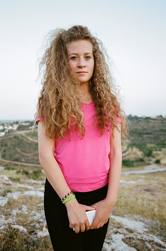 Ahed Tamimi, age 17, was arrested in December 2017 at 3am by Israeli forces after she confronted a solider the previous day. According to her father Bassem, at least 30 soldiers were involved in the raid of her home and arrest. According to Palestinian NGO Addameer, more than 12,000 children have been detained since 2000.