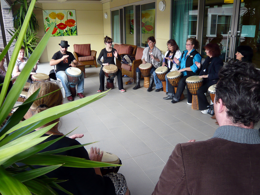 Drumming Wkshp - Eldercare Carers conference - MT and Craig.jpg