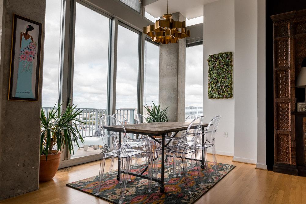 Ann Cox Design_Interior Design_Downtown Tampa Modern Dining Room-1