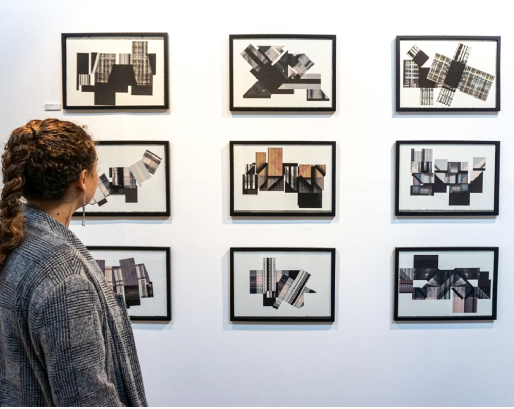 Installation view,  A Line of Inquiry , courtesy Atelier Manferdini.