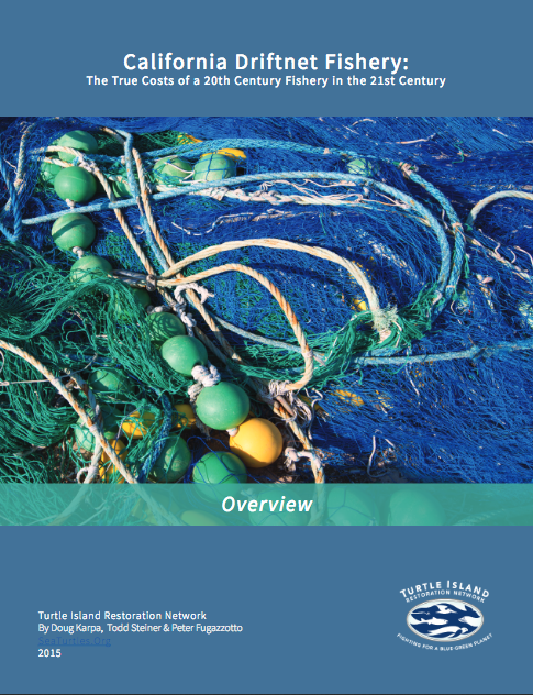 The  California Driftnet Fishery: The True Costs of a 20th Century Fishery in the 21st Century Overview  report is a publication of Turtle Island Restoration Network. I oversaw publication timelines, was the editor-in-chief and laid out the report in In Design.  Click here to download the report.   Click here to view more reports on this topic.