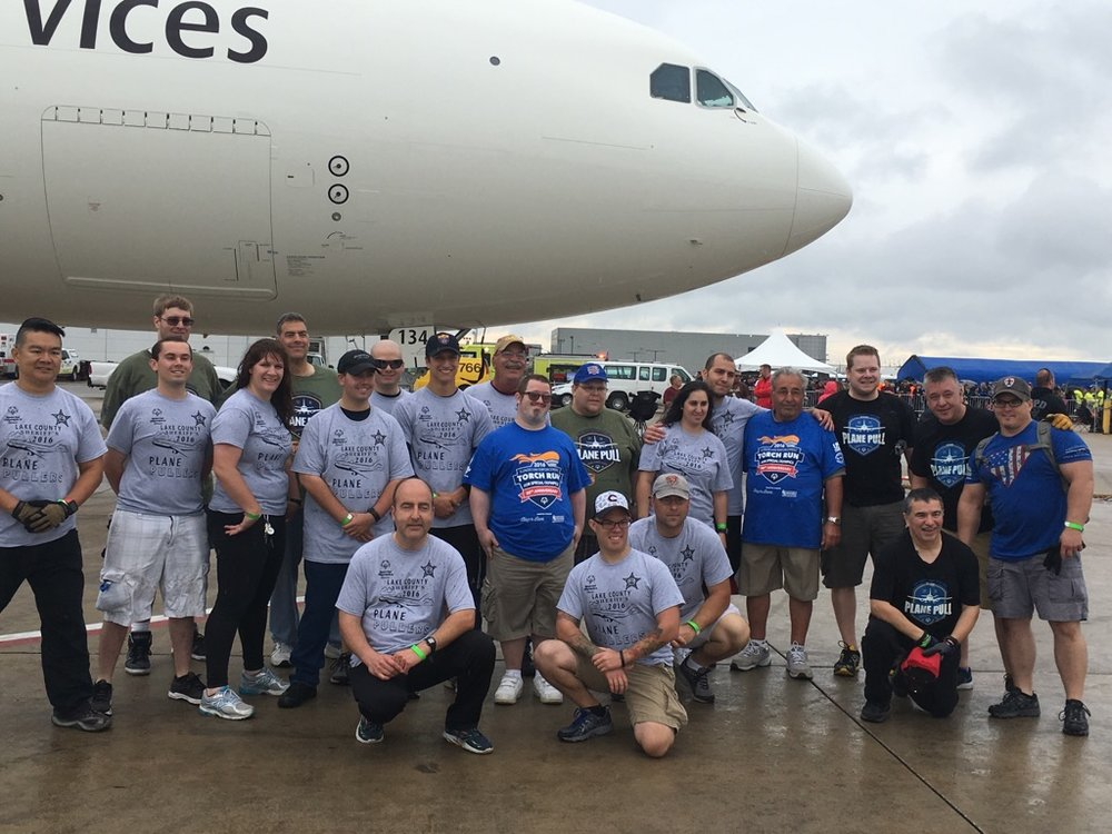 Special Olympics Law Enforcement Torch Run - Plane Pull 2016