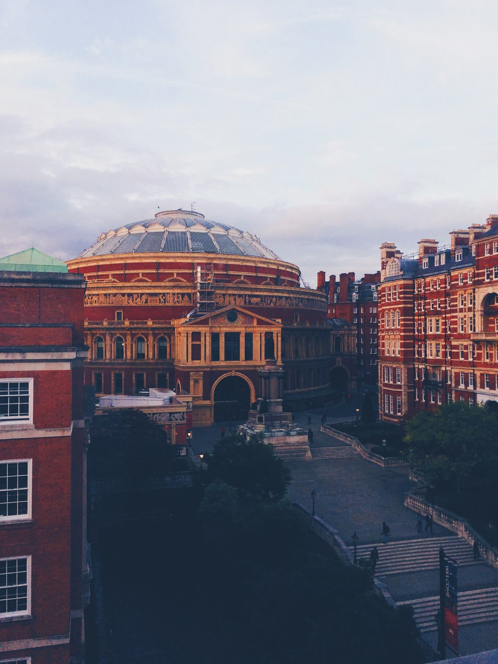 It's in a pretty great part of town too; just look at the view out the window of the composition studio!!  that's Royal Albert Hall btw