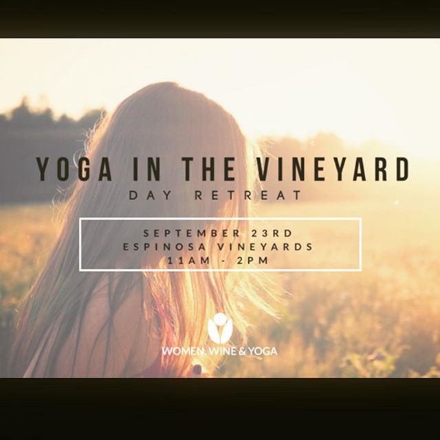 Reserve your mat for our September 23rd Yoga In The Vineyard Day-Retreat taught by the magical @zenjenn11 ! Day includes: yoga, meditation, sound healing, wine tasting, vegetarian tapas, vineyard tour and more!! #exploreyoursenses Click link in bio to purchase your ticket!