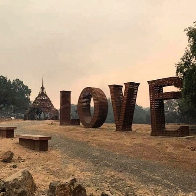 #Repost @7x7bayarea ・・・ This is apparently all that remains of @paradiseridgewinery—love literally conquers all. ❤️ Photo by @danicalifownia  #calfire #sonomafire #sonomastrong