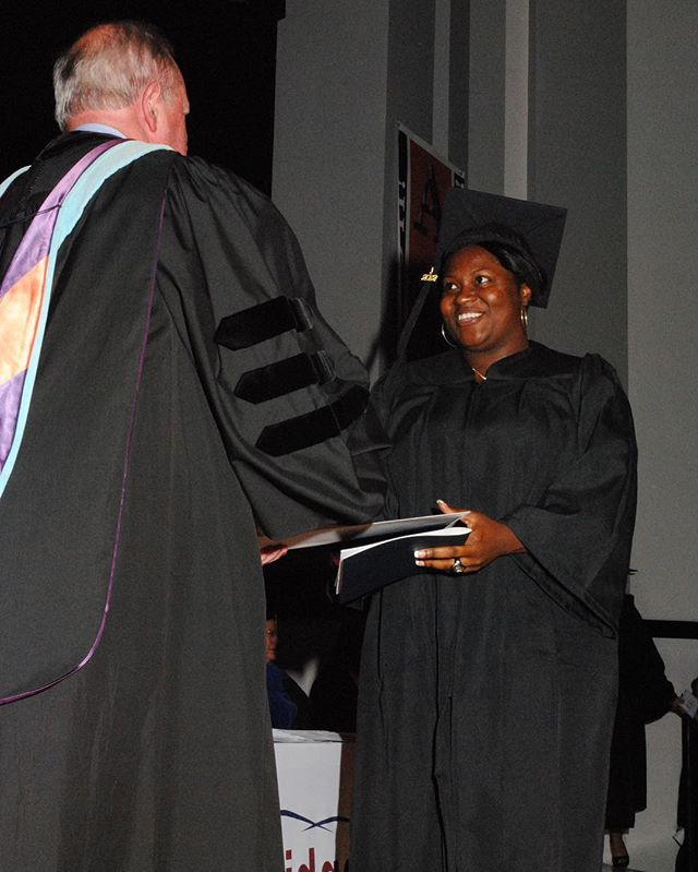 #tbt On this TBT - 2012 I accomplished my goal in-spite of going through a rough divorce and career change. I walked across this stage with 2 degrees. Smiling and hearing my 3 heartbeats cheer me on! #motivation #truehappiness #accompaniment