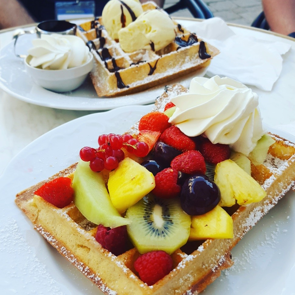 Just some of the many delicious waffles we tried in Ghent
