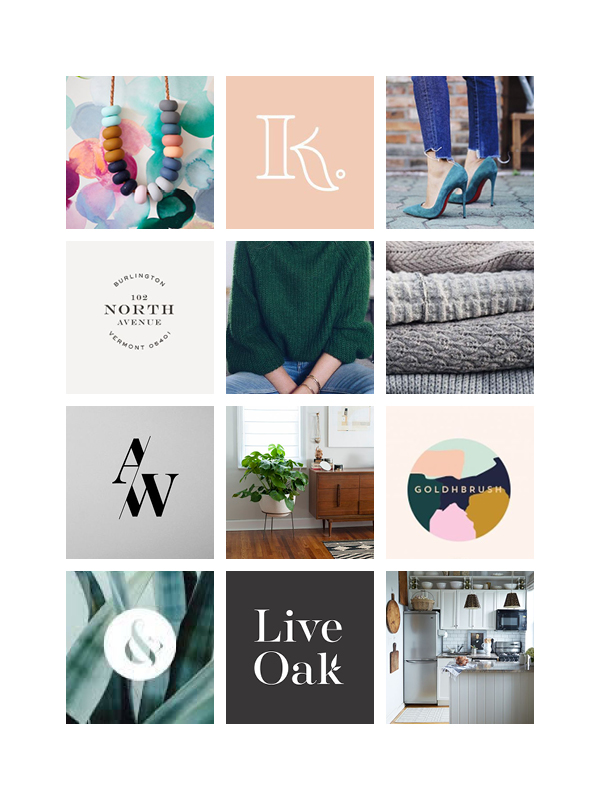 MOOD BOARD 2:  FEMININE, MIX OF SERIF AND SANS SERIF FONTS, MODERN YET COSY