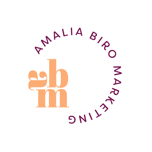 Salt Design Co created the brand for Amalia Biro Marketing