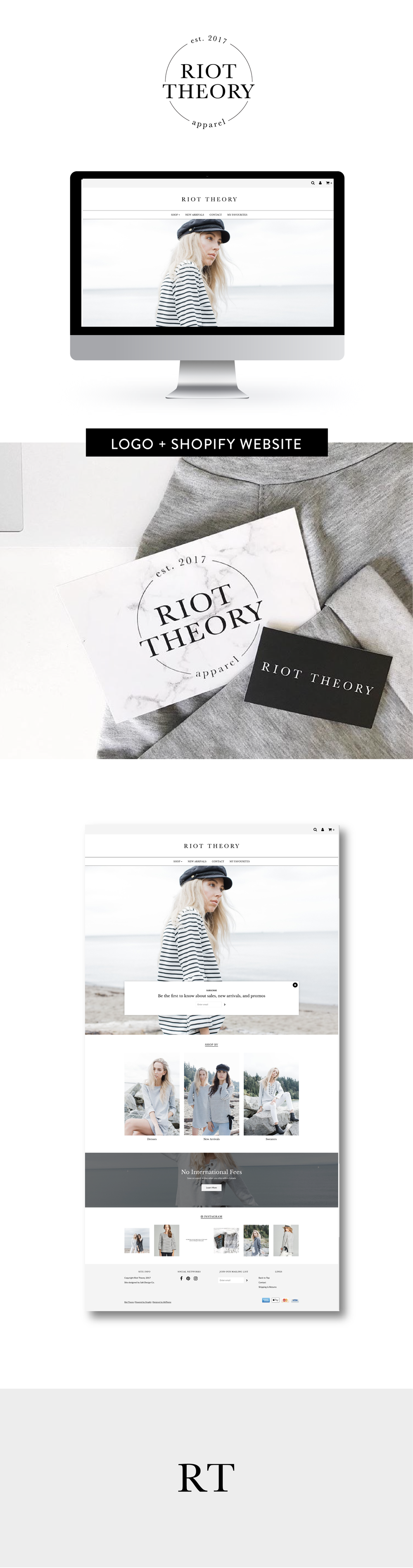 Riot Theory Brand and Shopify Website by Salt Design Co.