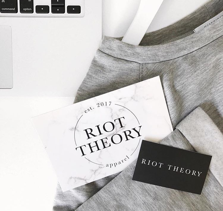 Logo and shopify web design for Riot Theory by Salt Design Co.