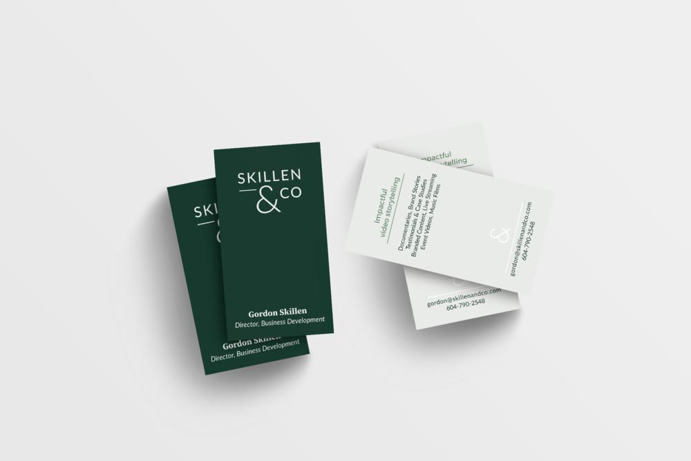 Skillen and Co business card design by Salt Design Co.