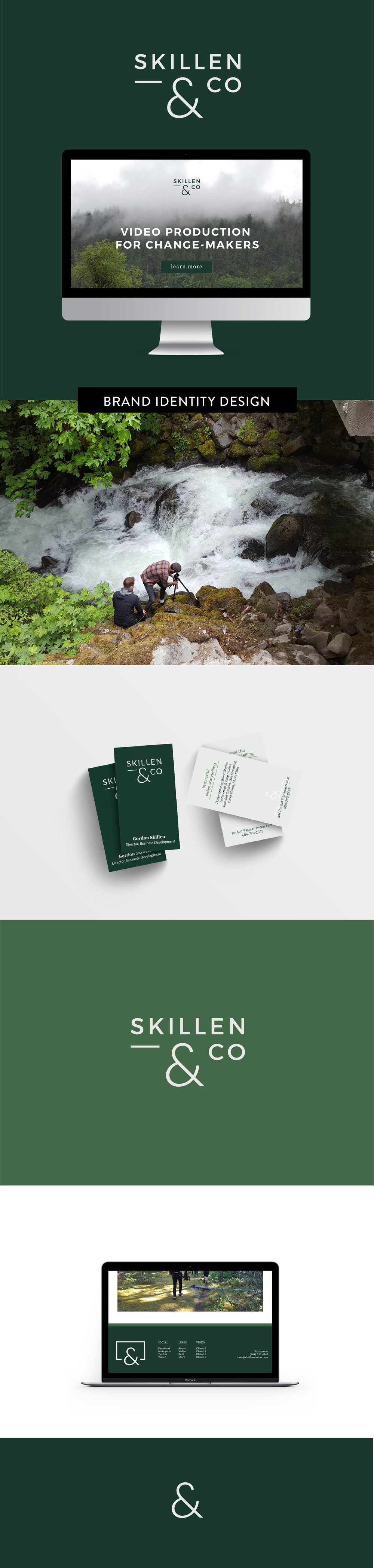 Brand and print design of Skillen & Co by Salt Design Co.