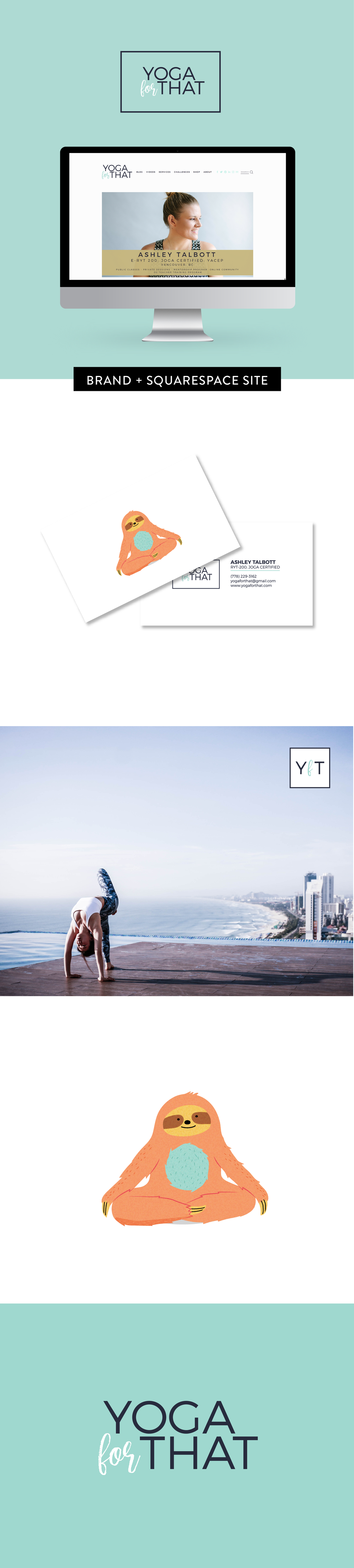 Brand and Squarespace web design for Yoga For That by Salt Design Co.