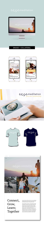 Brand and landing page design for Ease Meditation by Salt Design Co.