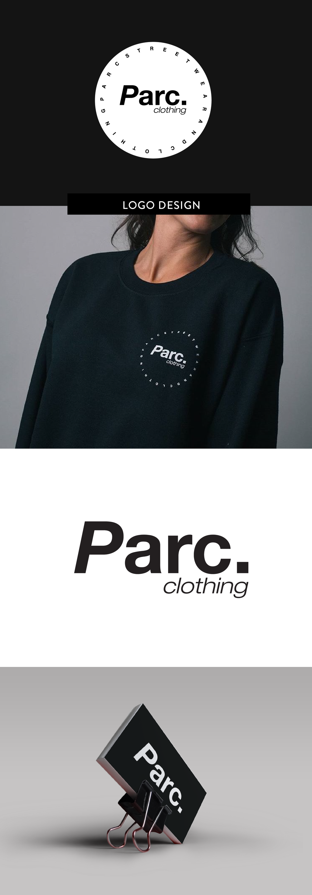 Logo design for Parc Clothing by Salt Design Co.