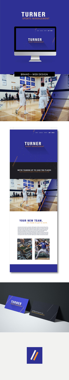Sports Management Brand design by Salt Design Co.