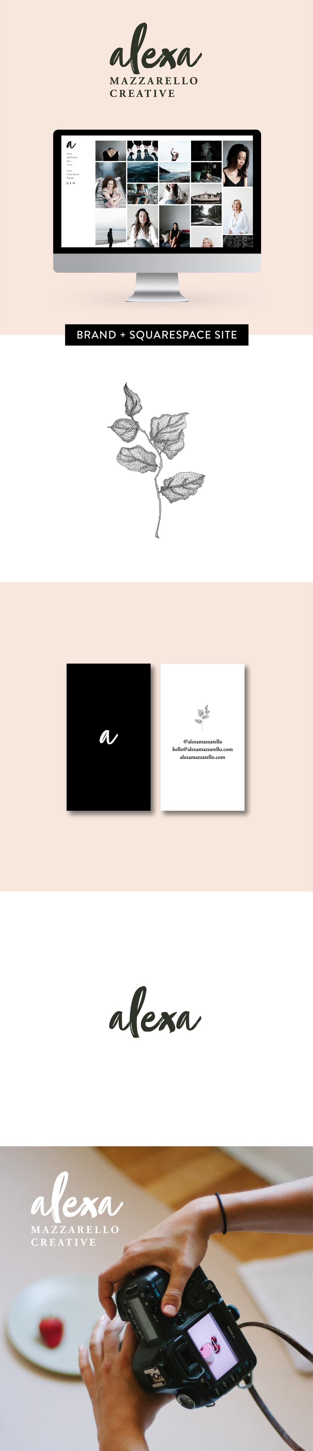 Brand design and Squarespace website development for Alexa Mazzarello Creative by Salt Design Co.