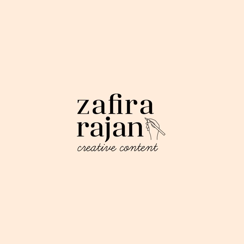 Zafira Rajan branding by Salt Design Co.
