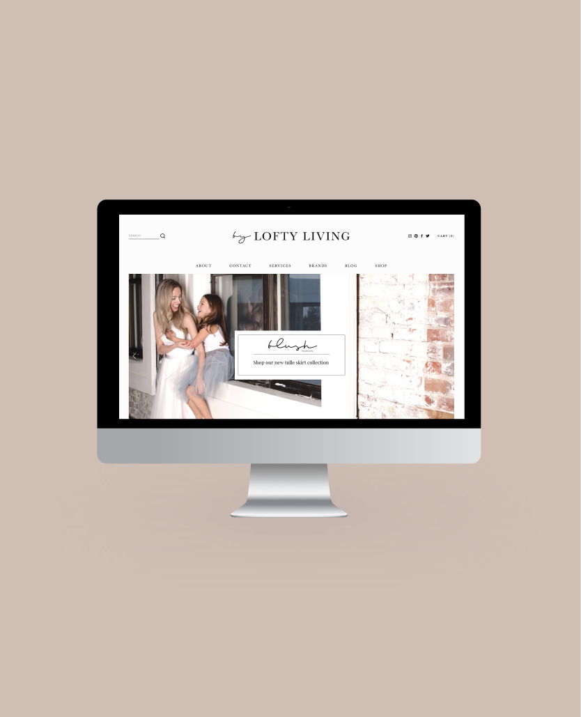 Website design and coaching for By Lofty Living by Salt Design Co. Vancouver BC