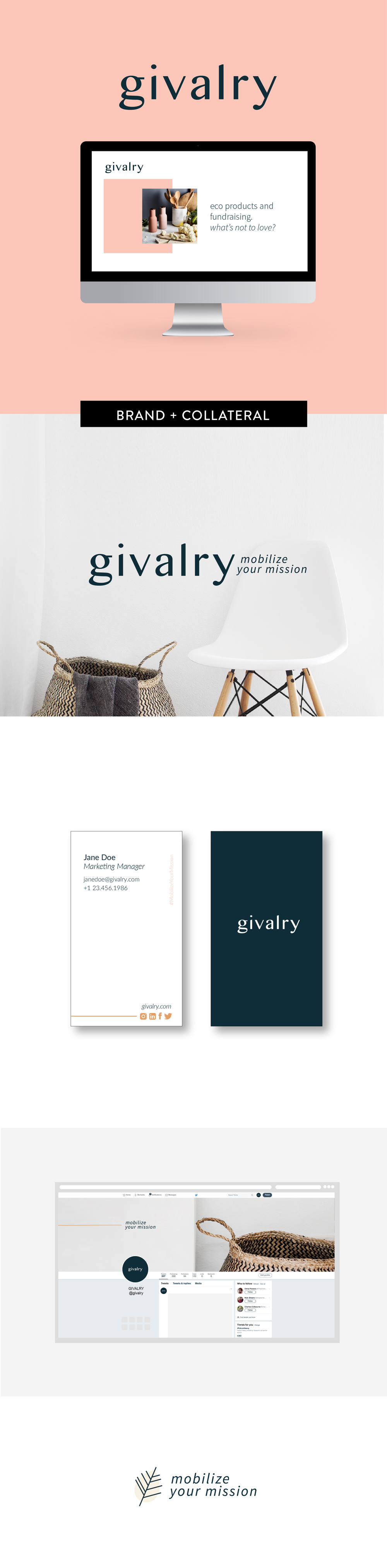 Brand and print design for Givalry by Salt Design Co.