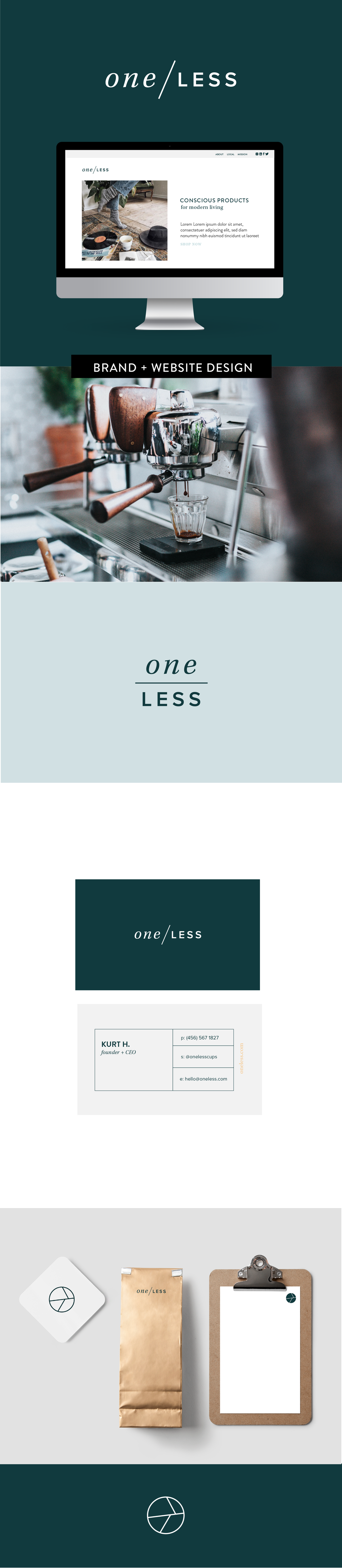 Brand Identity design by Salt Design Co. for One Less in Calgary Canada