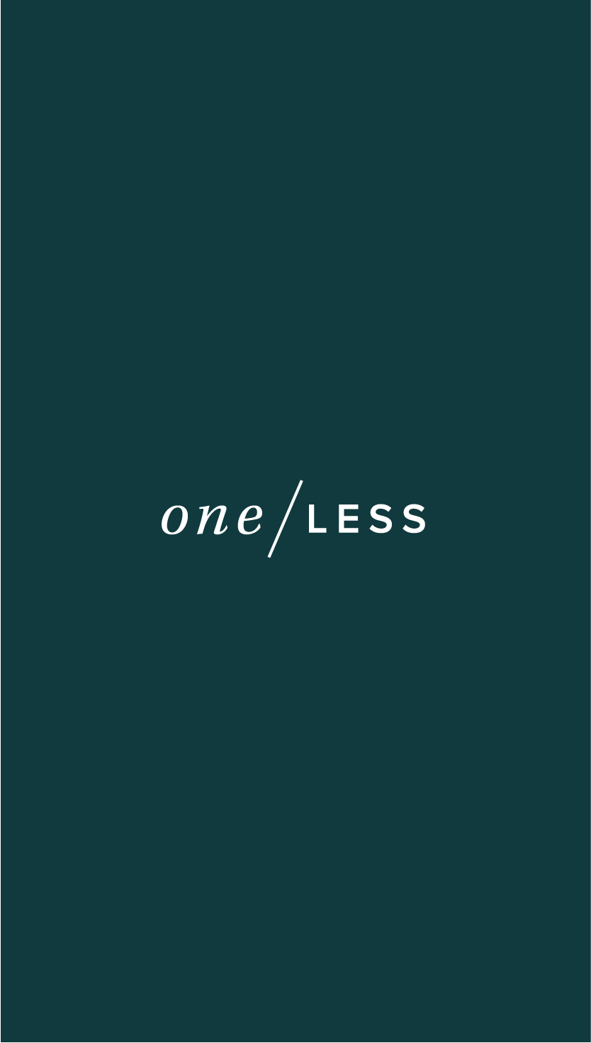 One Less Brand Design by Salt Design Co.