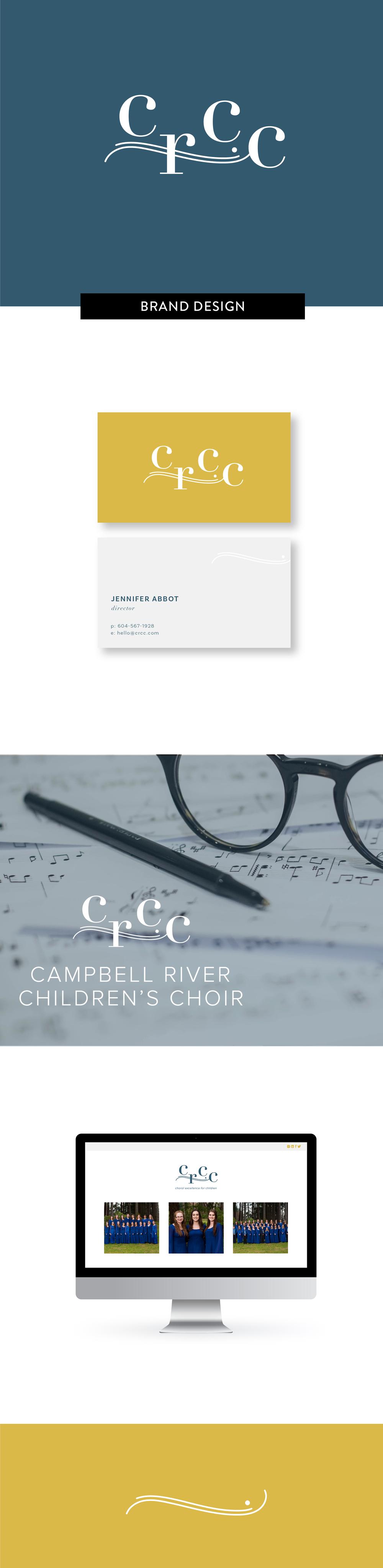 Brand Identity design by Salt Design Co. for Campbell River Children's Choir