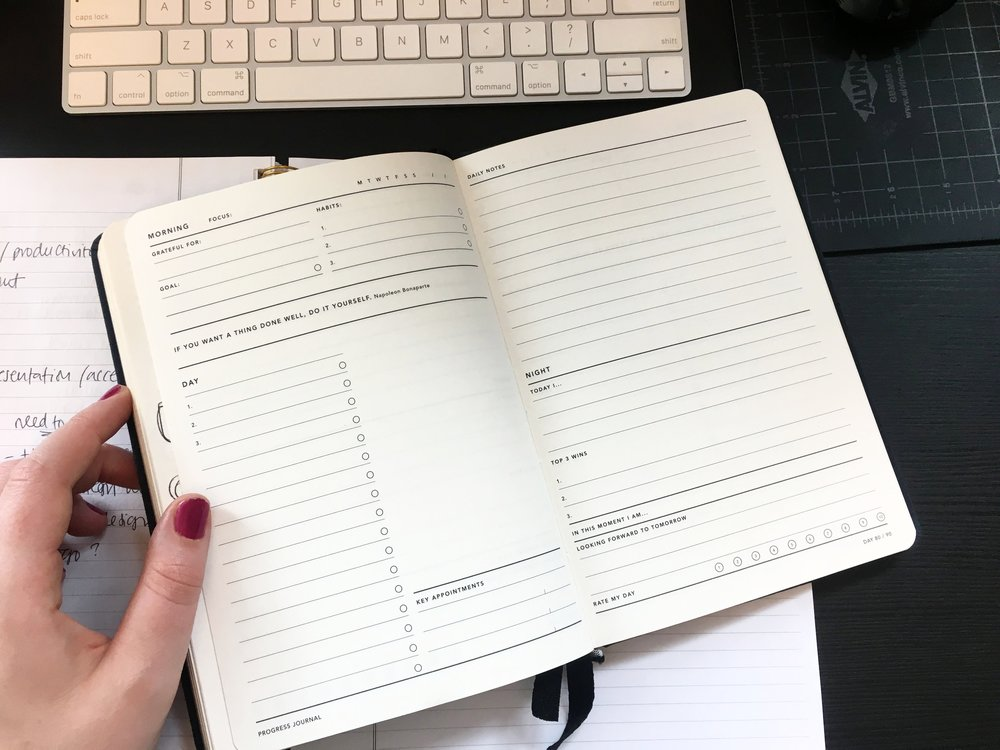 Using the Progress Journal from miGoals to stay organized!
