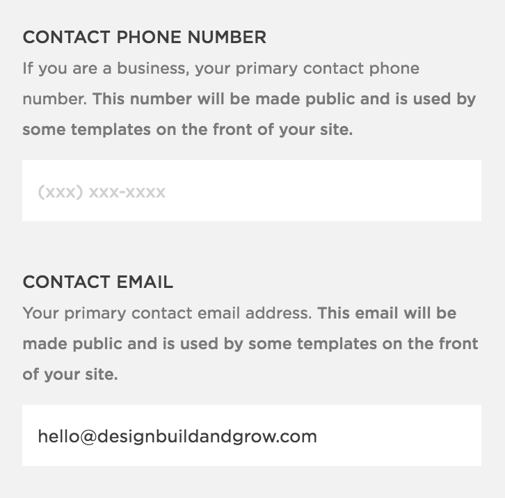 Adding contact info to your Squarespace website can help boost your SEO