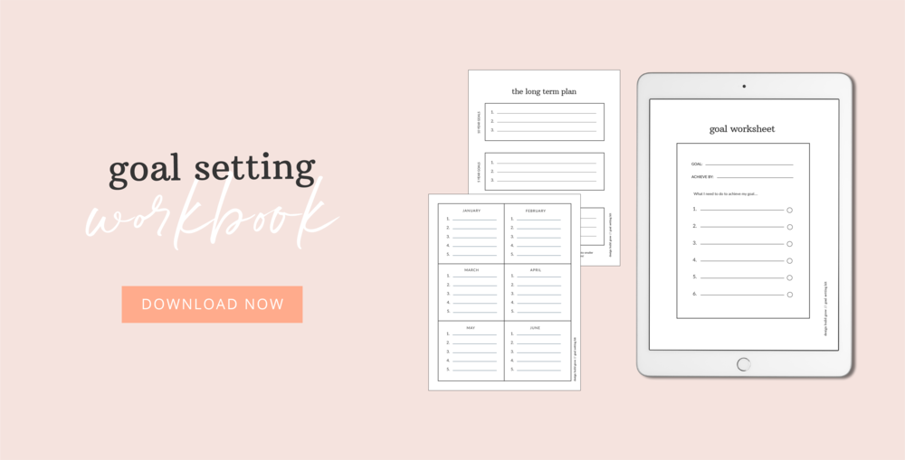 Download the goal setting workbook now at Design Build Grow