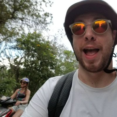 rosanna+phil+riding+scooters+mexico