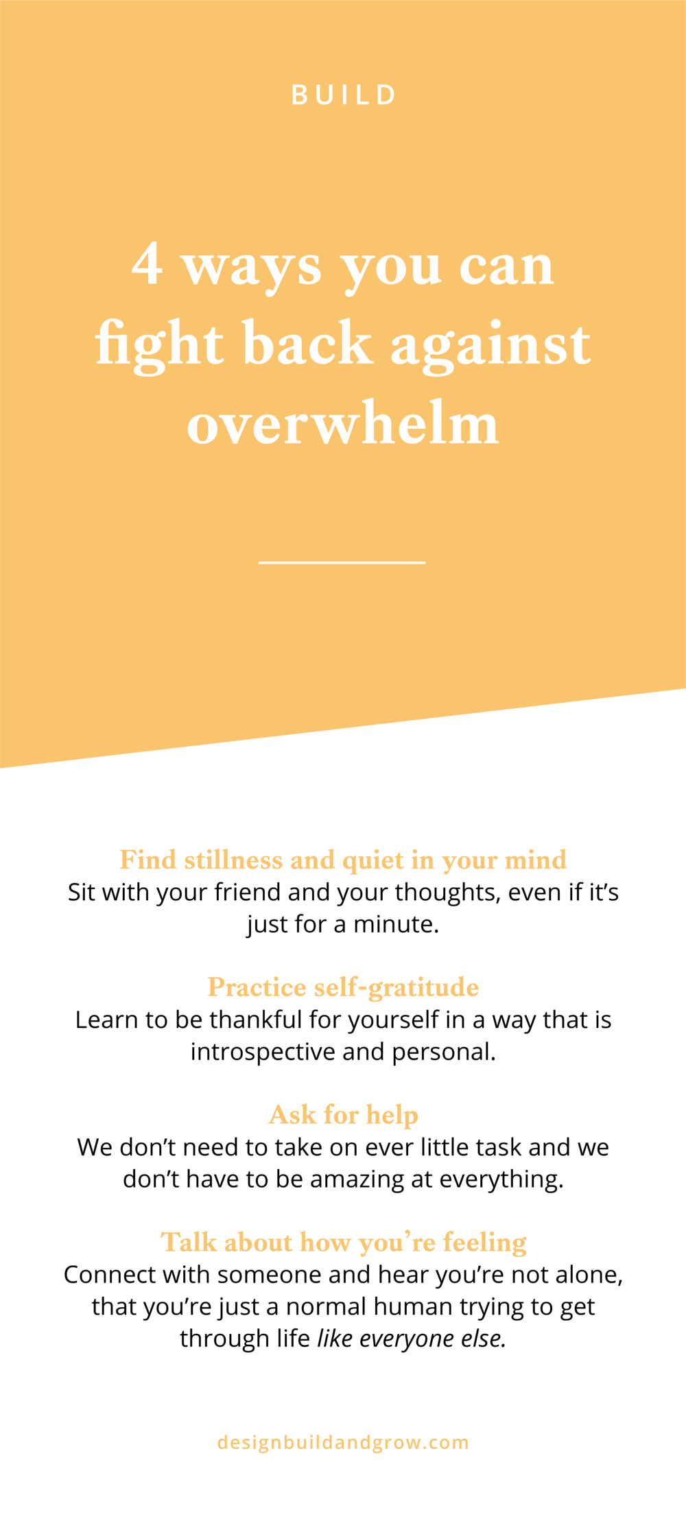 4 ways you can fight back against overwhelm