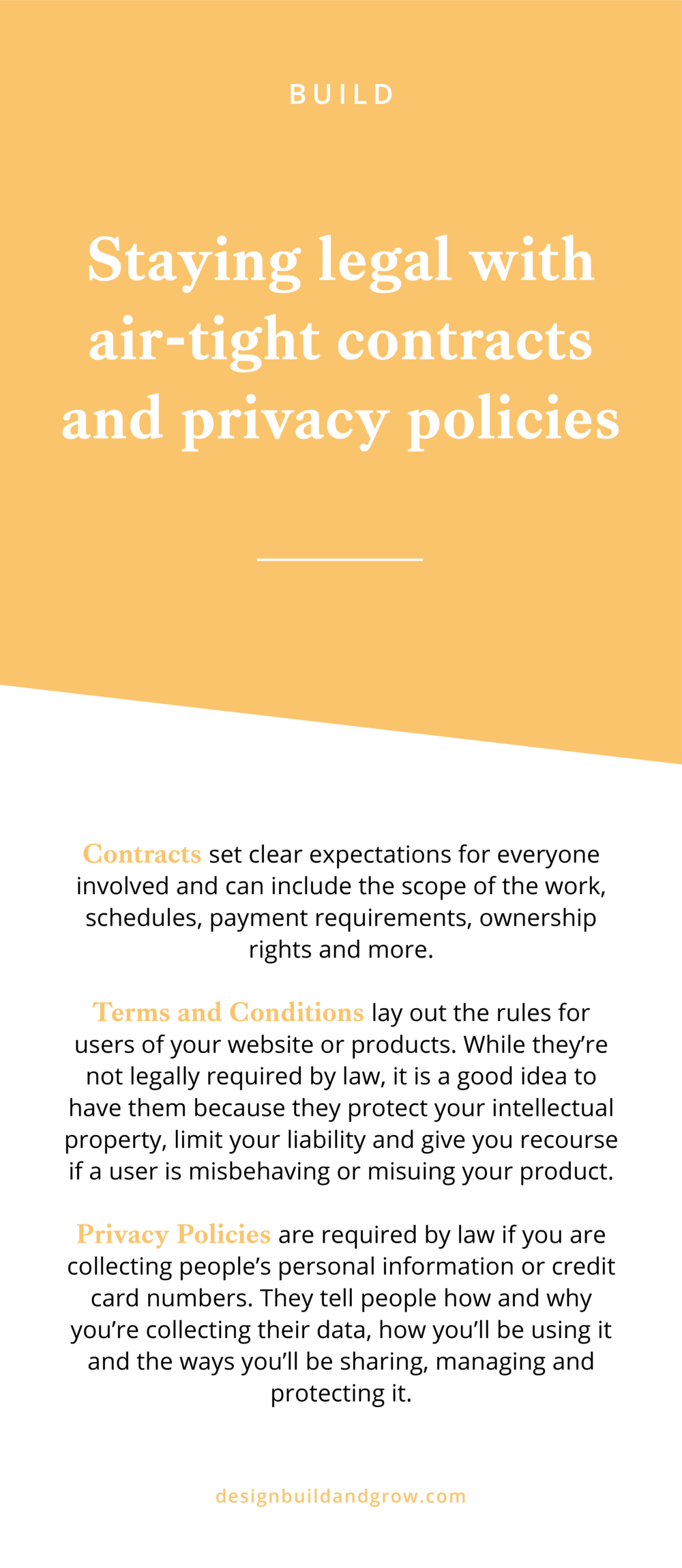 staying legal with air tight contracts and privacy policies